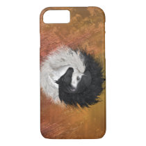 Yin Yang Horses iPhone iPad Samsung Rust case