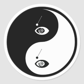 Yin Yang Hypnotism Classic Round Sticker
