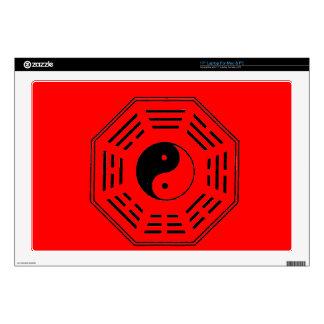 yin-yang i-ching laptop decals