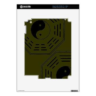 yin-yang i-ching skin for iPad 2