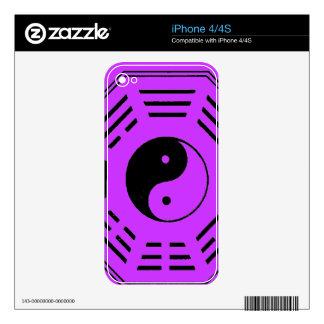 yin-yang i-ching skin for iPhone 4