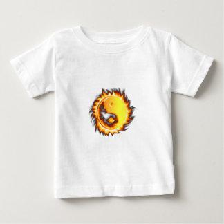 Yin Yang I Fire and flames Baby T-Shirt