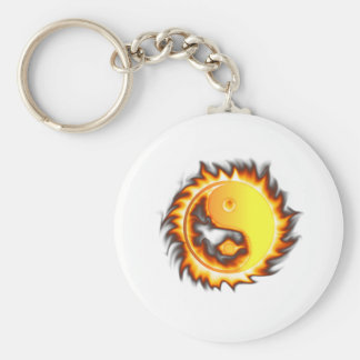Yin Yang I Fire and flames Keychain