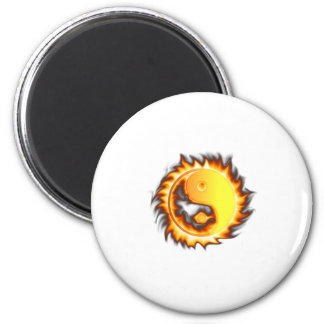 Yin Yang I Fire and flames Magnets