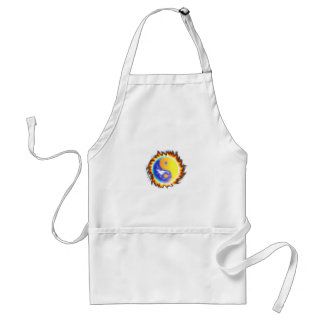 Yin Yang II fire and flames Adult Apron