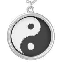 Yin Yang in Black and White Necklaces