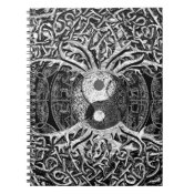 Yin Yang in Black and White w/ Tree of Life Notebook (<em>$13.70</em>)
