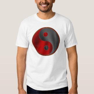 Yin/Yang in Black & Red Shirt
