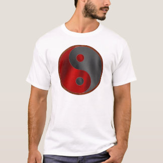 Yin/Yang in Black & Red T-Shirt