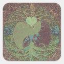 Yin Yang in Brown Square Sticker (<em>$5.25</em>)