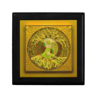 Yin Yang in Golden Colors Keepsake Box