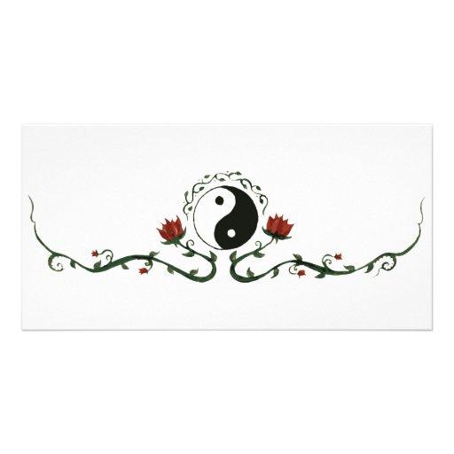 Yin Yang In Nature Customized Photo Card