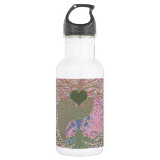 Yin Yang in Pink 18oz Water Bottle
