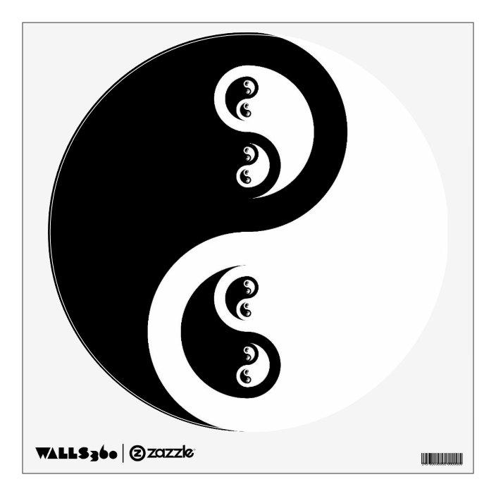 Yin Yang Infinity Water Wall Sticker Zazzle Com