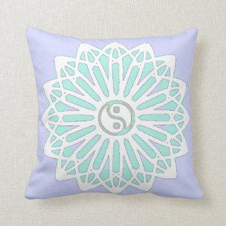 Yin Yang Inspiration Wisdom- Pale Blue, Aqua Pillow