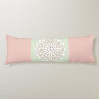 Yin Yang Inspiration Wisdom- Pale Pink & Green Body Pillow