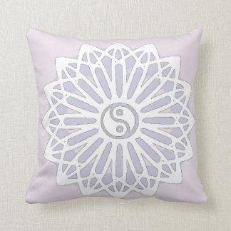 Yin Yang Inspiration Wisdom- Purple, Lilac Pillow