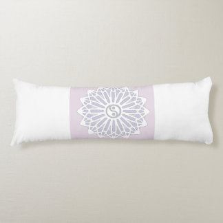 Yin Yang Inspiration Wisdom- Purple, Lilac, White Body Pillow