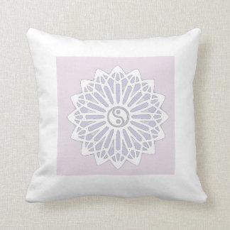 Yin Yang Inspiration Wisdom- Purple, Lilac, White Pillows