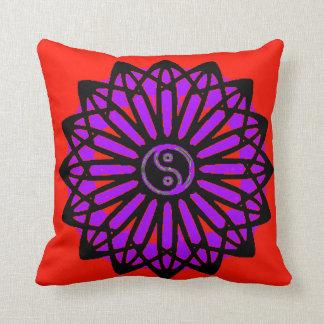 Yin Yang Inspiration Wisdom - Red, Purple, Black Pillows