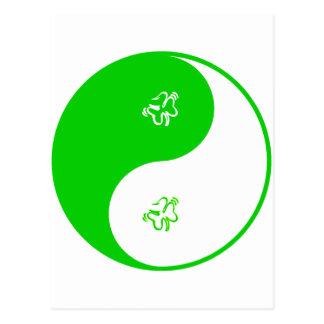 Yin Yang Irish Postcard