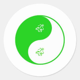 Yin Yang Irish Stickers