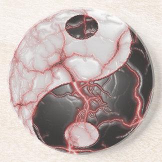 Yin Yang It's Alive Drink Coaster