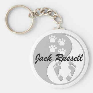 yin yang jack russell keychain