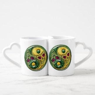 Yin Yang Jade Ruby Skull Lover's Mugs Couples' Coffee Mug Set