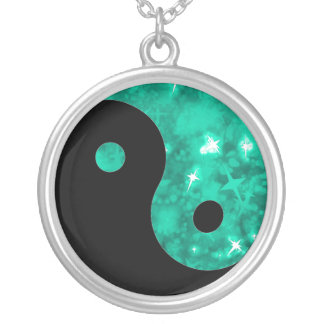 Yin yang jade sparkle necklace