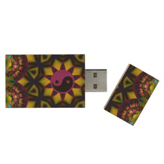 yin yang jewel wood USB 3.0 flash drive