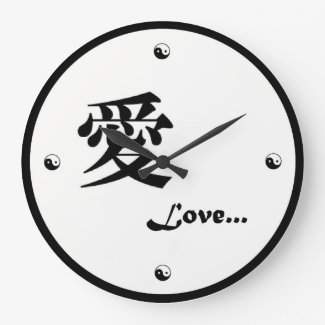Yin-Yang Kanji Love Clock