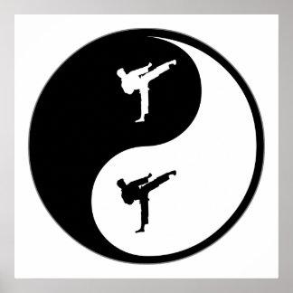 Yin Yang Karate Poster