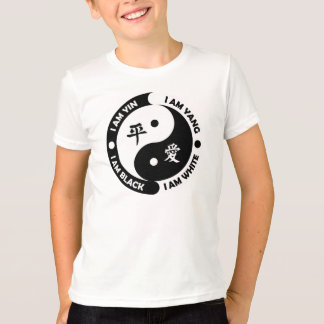 Yin Yang Kid's Brotherly Love Black White Shirt
