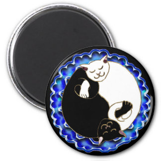 yin yang kittens magnet