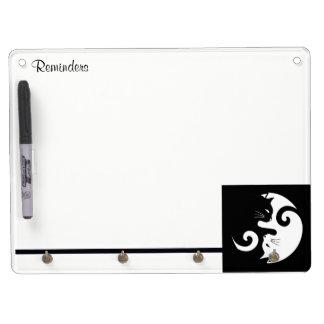 Yin Yang Kitties Dry Erase Board With Keychain Holder
