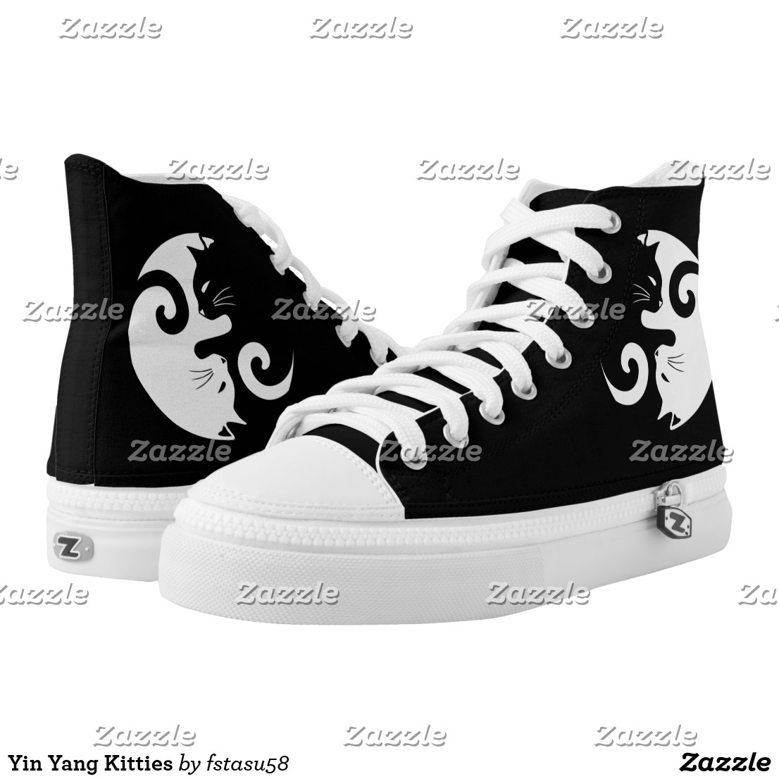 Yin Yang Kitties High-Top Sneakers