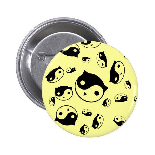 Yin Yang Kitty Button