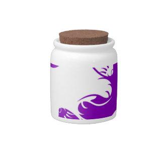 Yin Yang Kitty Candy Jars