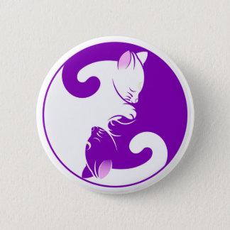 Yin Yang Kitty Pinback Button