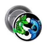 Yin-Yang Koi Design Buttons