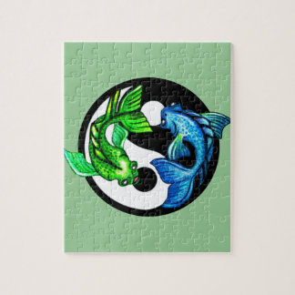 Yin-Yang Koi Design Puzzles
