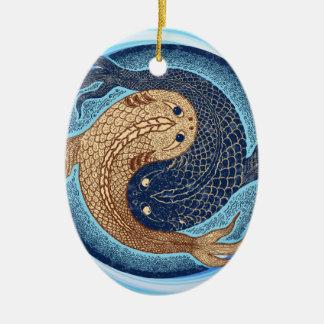 Yin Yang Koi Fish Mandala Christmas Ornaments