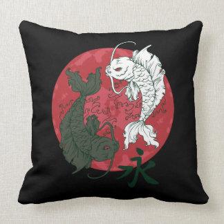 Yin Yang Koi Fish Pillow