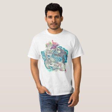 Beach Themed Yin Yang Koi Fish T-Shirt