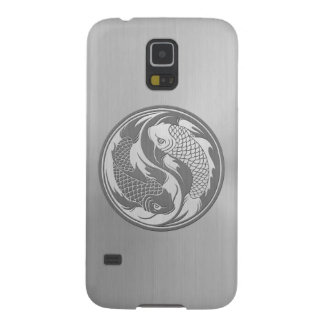 Yin Yang Koi Fish with Stainless Steel Effect Galaxy S5 Cover