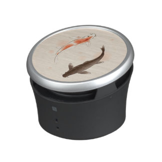 Yin Yang Koi fishes in oriental style painting Bluetooth Speaker