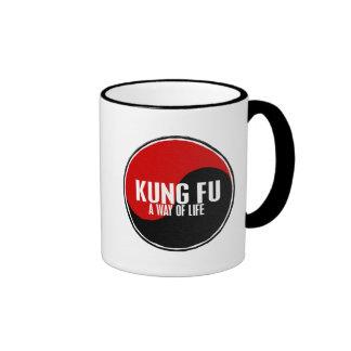 Yin Yang Kung Fu 1 Ringer Coffee Mug