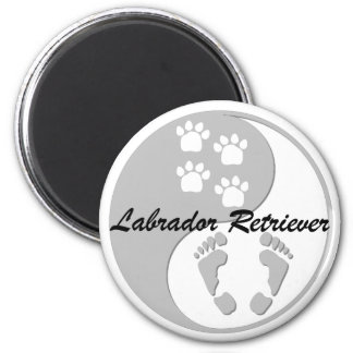 yin yang labrador retriever fridge magnets