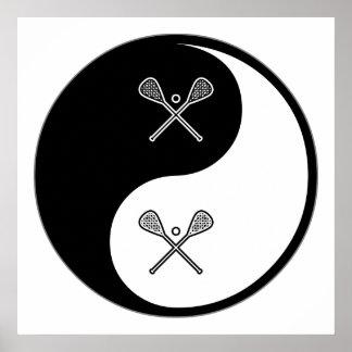 Yin Yang LaCrosse Poster